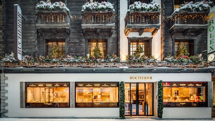 Bucherer Zermatt Storefront Winter 2017