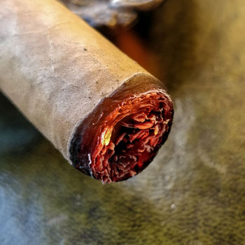 Cigar Cherry When Lighting