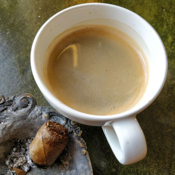 Cigar Palate Cleansing With Coffee