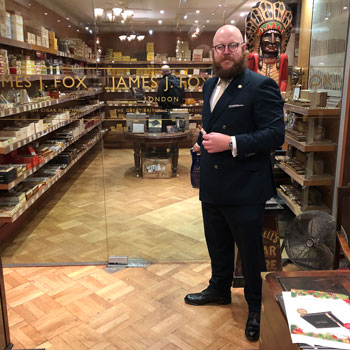 Well Dressed Man In James L Fox Cigar Shop