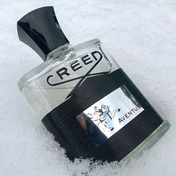 Creed Aventus Bottle In The Snow