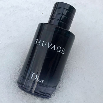 Dior Sauvage Bottle In The Snow