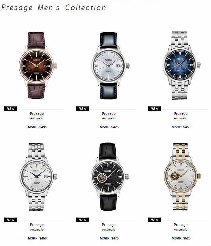 Seiko USA Presage Mens Collection