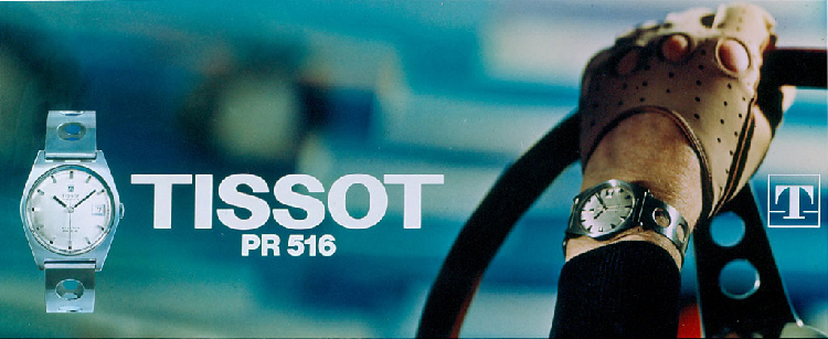 Tissot PR 516 1965 Model Advertisement