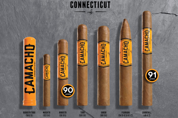 Camacho Connecticut Sizes & Vitolas