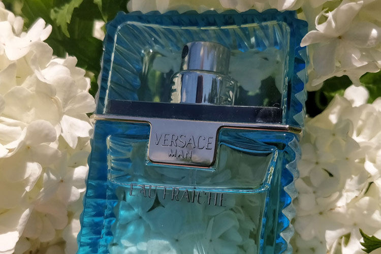 Versace Man Eau Fraiche Bottle Flowers