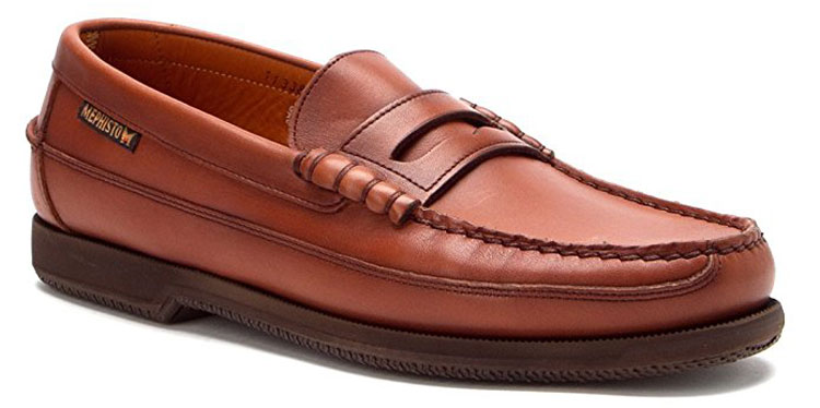 mephisto cap vert penny loafers