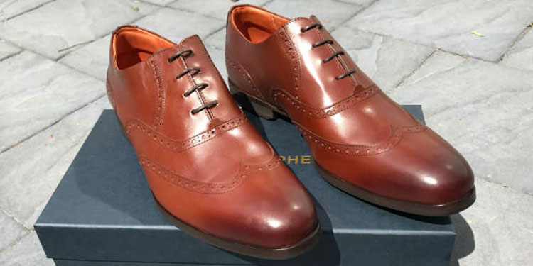 Senna Wingtip Brown Comfortable Dress Shoes