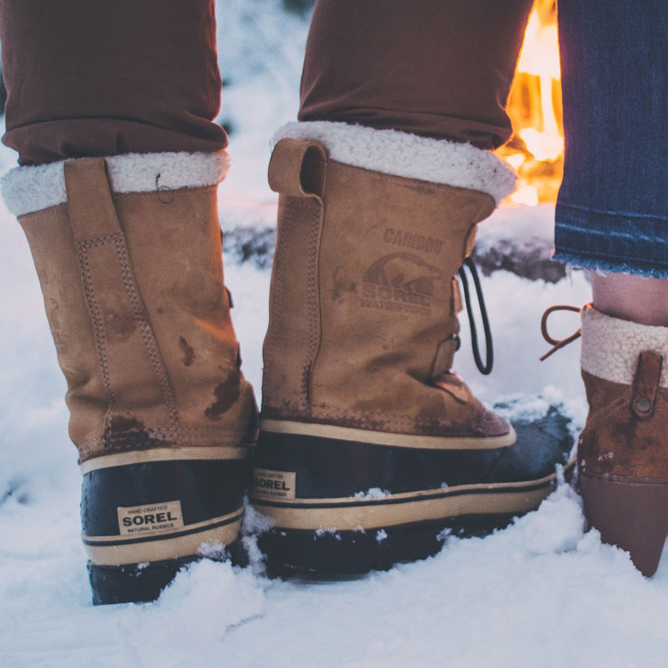 Sorel Caribou Boots In Snow