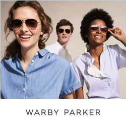 Warby Parker Sunglasses Banner