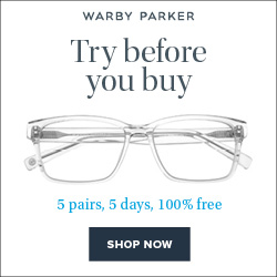 Warby Parker Try Before Buy Banner