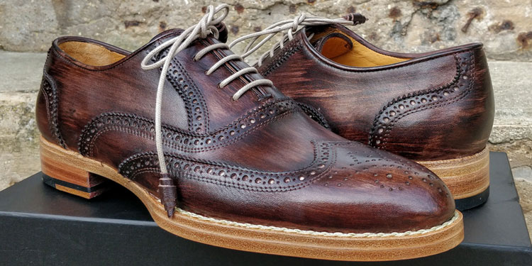 Maglieriapelle handmade & Painted Pamukkale Brogue Shoes