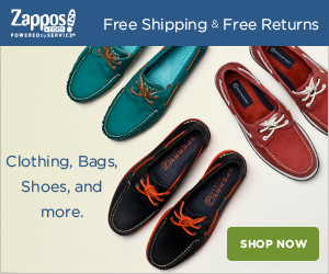 Zappos Mobile Link Block Ad
