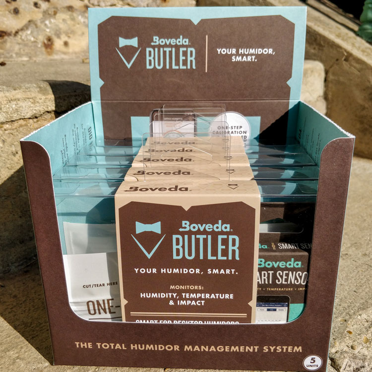 Boveda Butler Smart Sensor Hygrometer Packaging