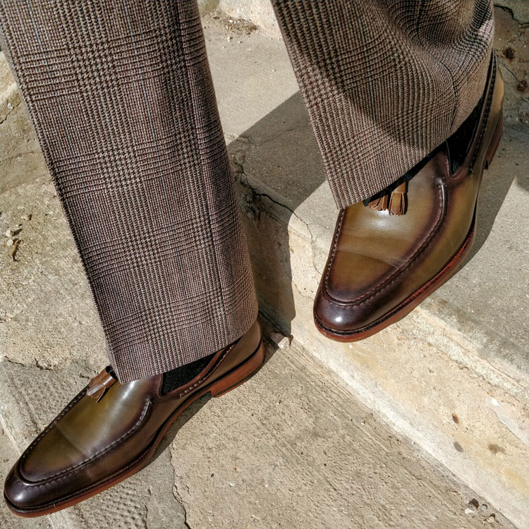 Maglieriapelle Cunda Loafers Walking Down Stairs