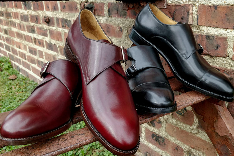 Beckett Simonon Hoyt Double & Leonard Single Monk Strap Shoes Together