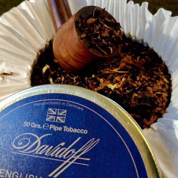Davidoff English Mixture Pipe Tobacco Lid With Pipe