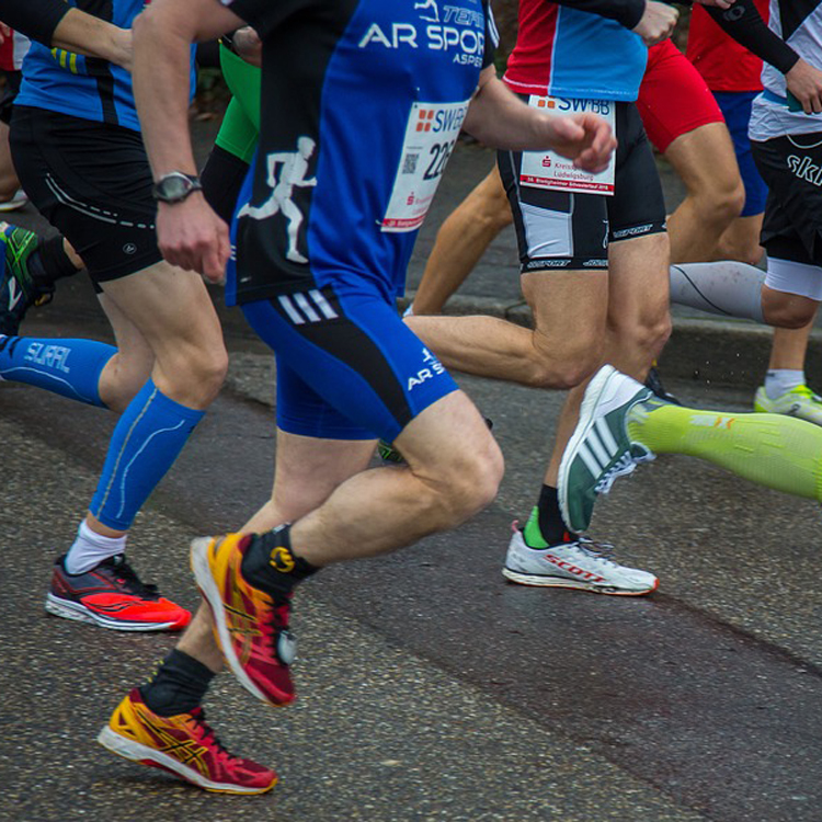 Men Running Shoes In Marathon