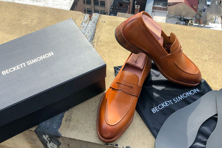 Beckett Simonon Cohen Penny Loafer On Wall