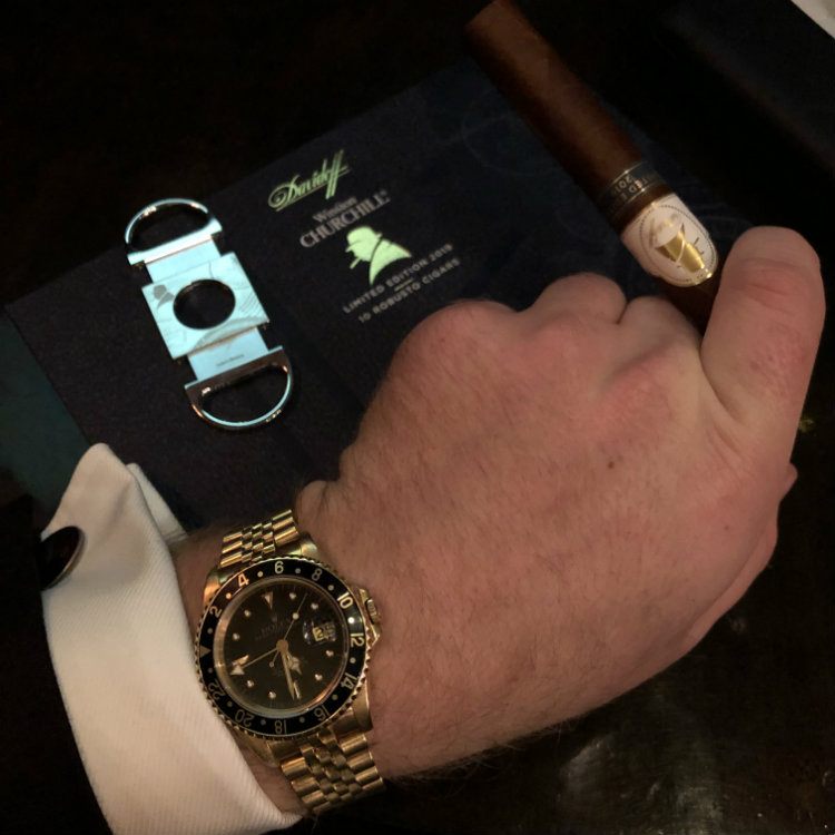 Davidoff Cigar Cutter with Winston Churchill Motif