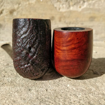 Different Briar Wood Pipe Finishes