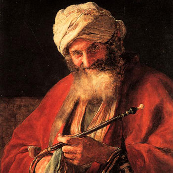 Gysis Nikolaos - Oriental Man With Pipe