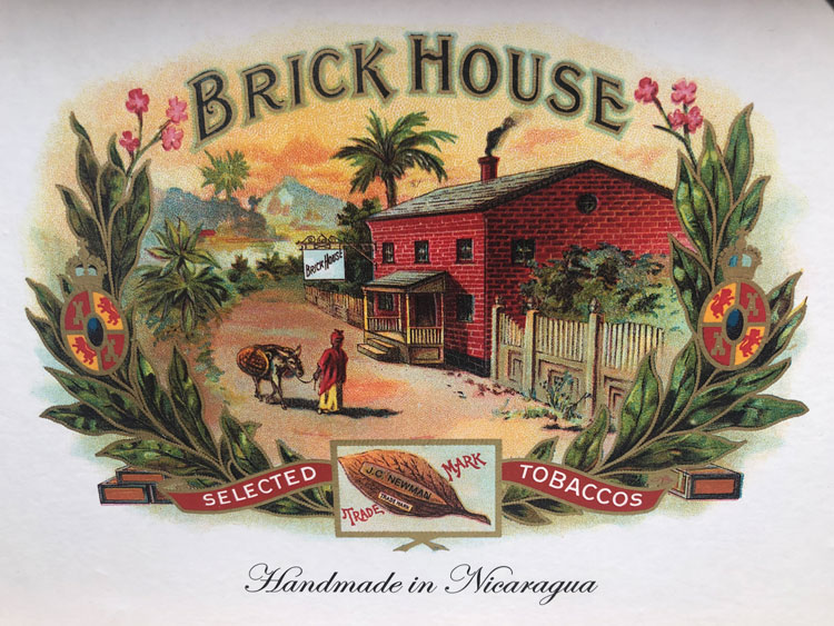 JC Newman Brick House Cigar Logo