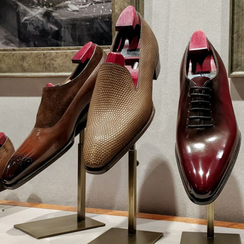 Different Gaziano Girling Shoes On Display