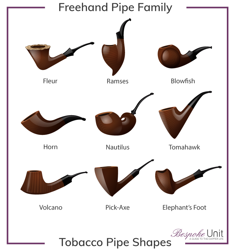 Freehand Tobacco Pipe Shapes