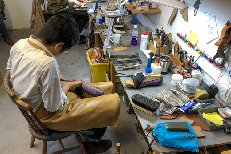 Gaziano Girling Craftsman Working On Shoes