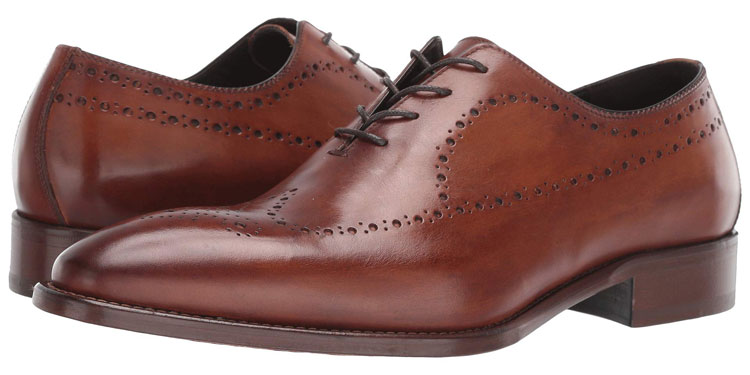 J&M Collection Reece Wing Tip Wholecut Shoe