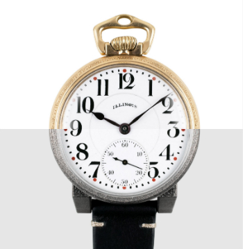 Vortic watch overlay with pocketwatch