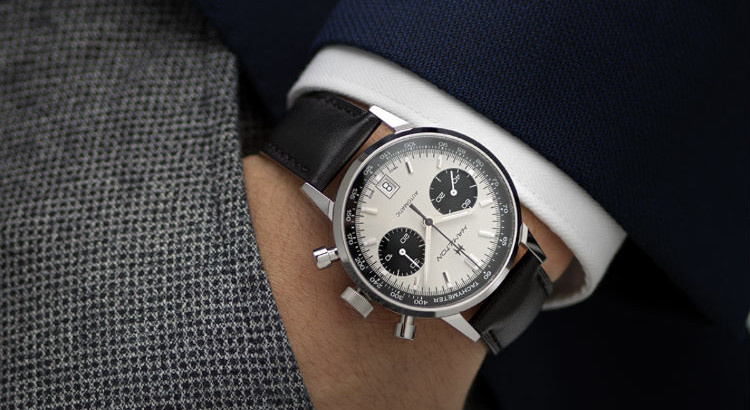 Hamilton Intra-Matic Panda Watch On Wrist