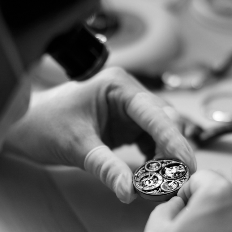 Memorigin Tourbillon Disassembled On Watchmaker Bench