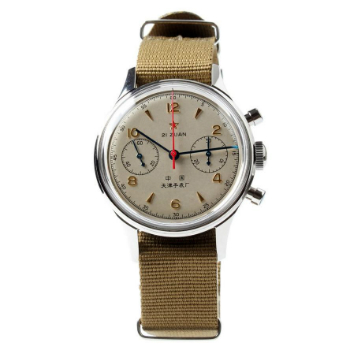 Seagull Watches 1963 Reissue Pilot Chronograph Watch