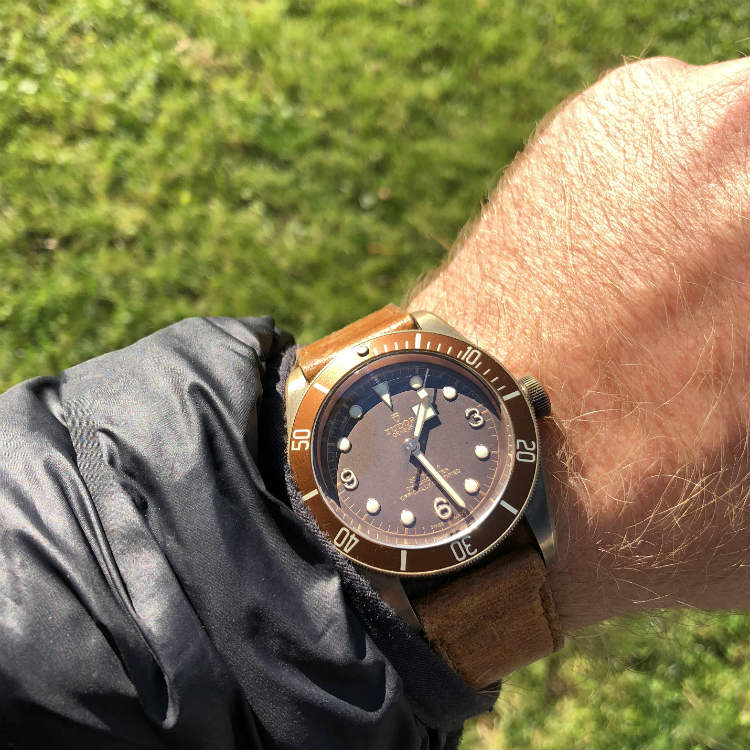 Tudor Black Bay Bronze 2016 Model On Wrist