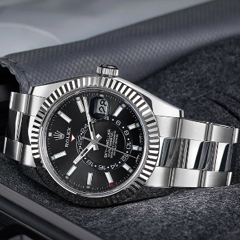 Rolex Sky-Dweller Black Dial Annual Calendar Watch