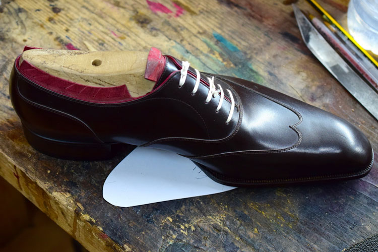 Aubercy Bespoke Shoes On Bench