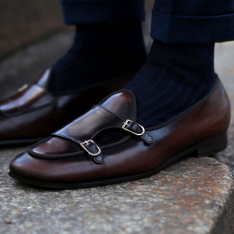 Edhèn Milano Double Monk Shoes