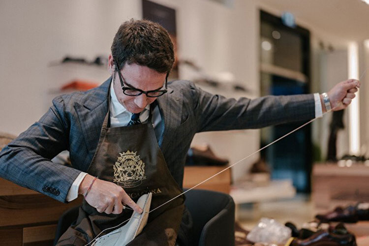Paolo Scafora Stitching Bespoke Shoes