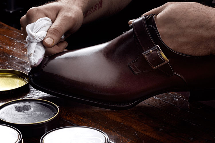 Riccardo Freccia Bestetti Shoes Being Polished