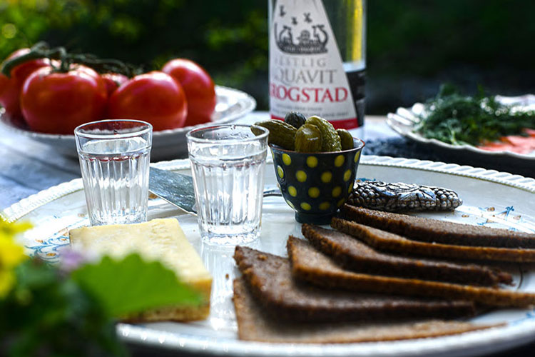 Traditional Akvavit Snacks