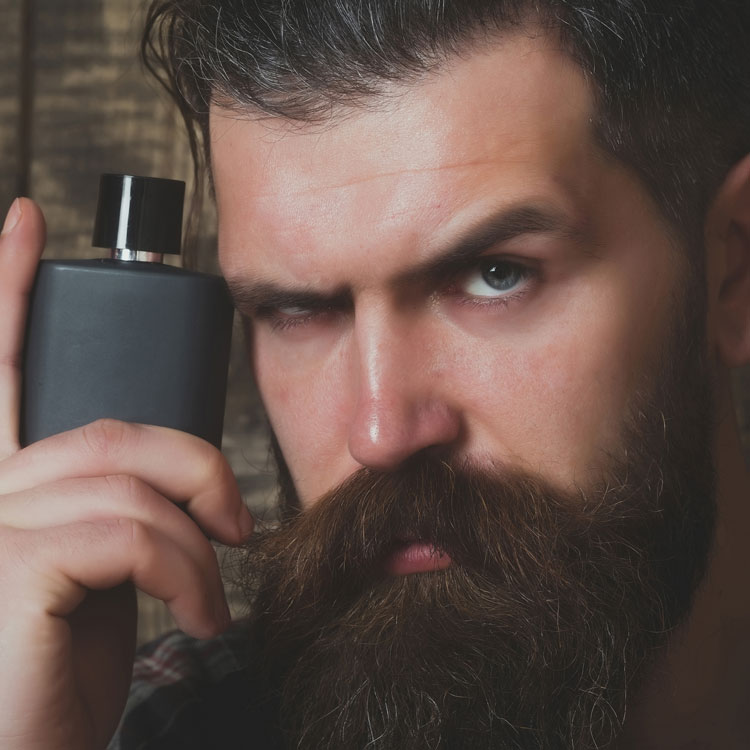 Bearded Man With A Perfume Bottle
