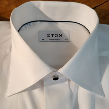 Eton Tuxedo Evening Shirt Collar