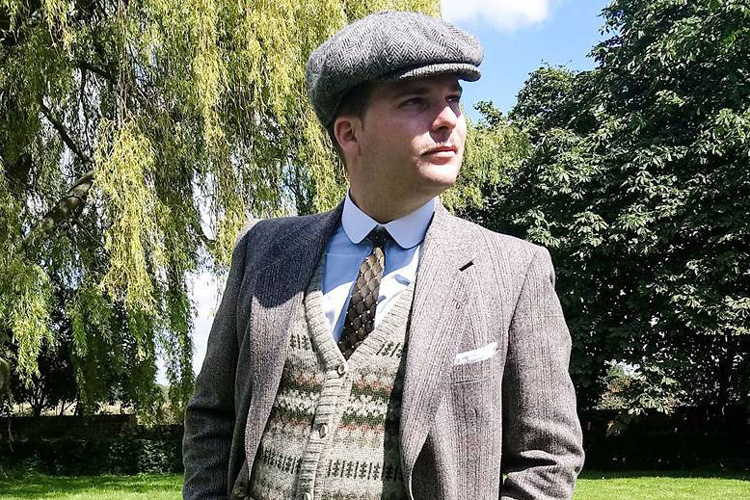 Vintage Suit & Fair Isle Jumper