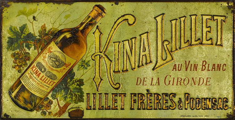 Original Kina Lillet Poster From 1872