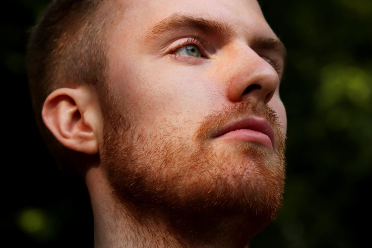 Redhead Man With Stubble Beard