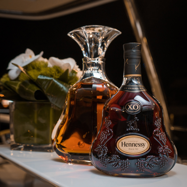 Hennessy XO Cognac Bottle & Decanter