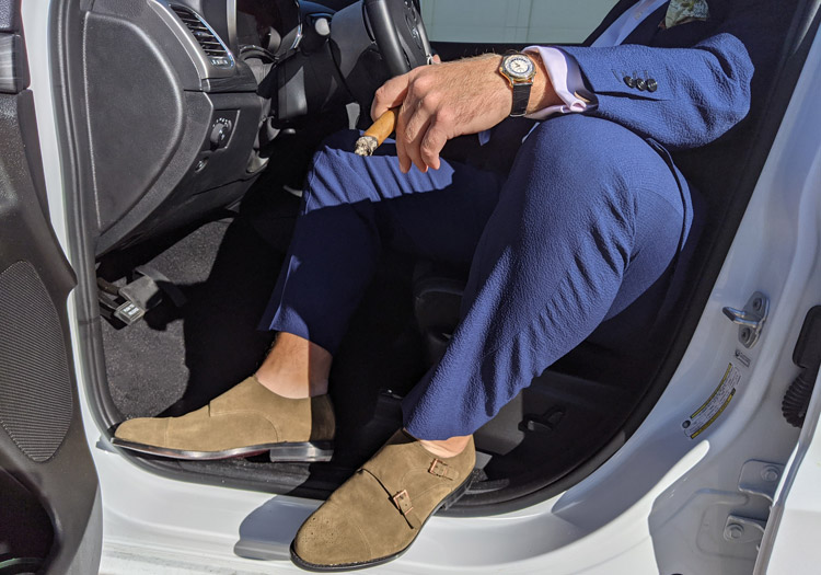 Idrese Shoes In Car